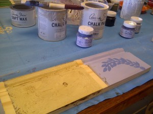 More visuals of the effect of dark wax, and stencilling.