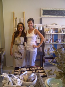 The lovely Ilana and I (Im still rocking my lovely apron there, just for you to see) :)