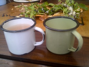 How cute are these cups of complimentry homemade ginger beer?!