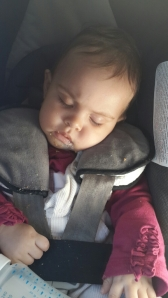 The rare but oh so sweet moments when beasty number two actually sleeps in the car.