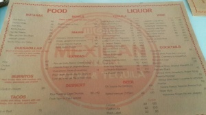 The menu: Have a look-see at the selection of tastiness