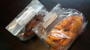 Dried apricots and peaches - two of my common ingrediants for baby's meals