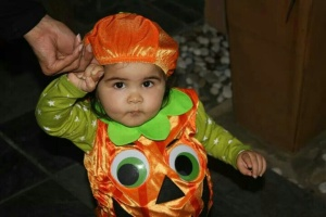 Cuteness: Our eldest beasty as the cutest pumpkin ever!