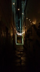 Here's that fFairy light- lit alley I was talking about.