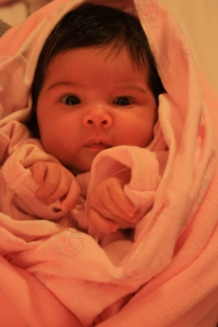The birth story of this pretty lil' munchkin