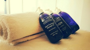 Some of the products she used on me on the day