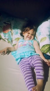 Her relax-game is strong: No one does chilling out in the sun, quite like Parker-Grace. Except, maybe her big sis!;)