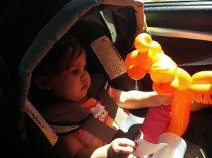A girl and her tigger.