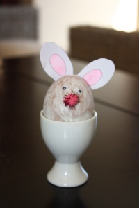 Pasting option: Bunny ears, googly eyes make for a cute and easy bunny any toddler can do.