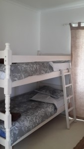 The double bunk in our bedroom