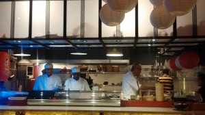 Arata Koga working his magic in the kitchen.