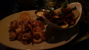 Patagonian calamari and THAT salad!