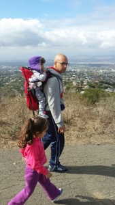 Daddy can keep his eyes on his girls whilst on a hike without fear of losing Blankie on a mountain!