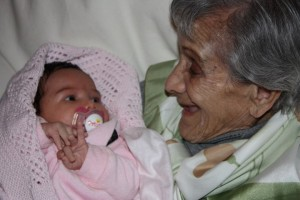 Connecting moment: She took such delight in her greatgrandchildren.