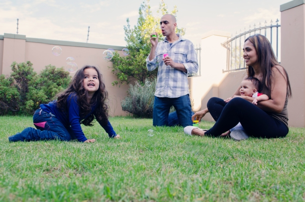 Simple joys: Playing with my little family in our garden, with the best team mate I could have ever asked for right at my side, remind me that dreams do come true. Photo cred: Marysol Blomerus