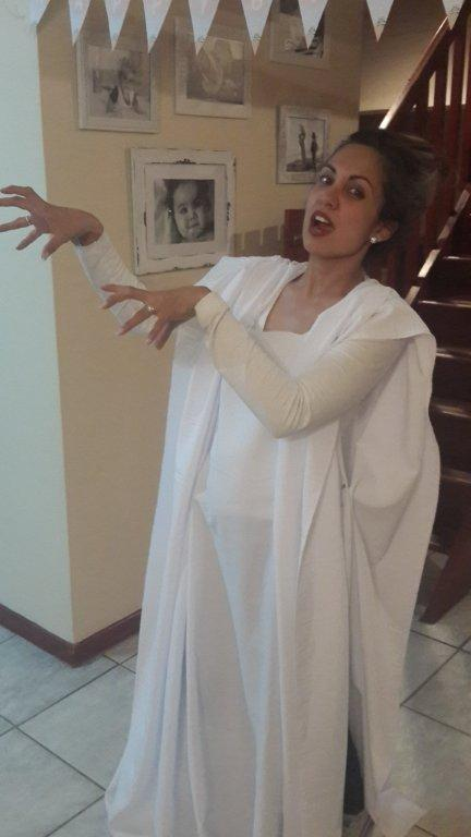 Diy bride of frankensteins monster no sew costume and hair grrrg arrg solutioingenieria Image collections