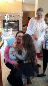 Morgy doing her thang with the babies. This kid really has a gift with babies.