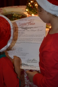 The magic scroll from Father Christmas