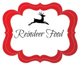 Reindeer food jar label