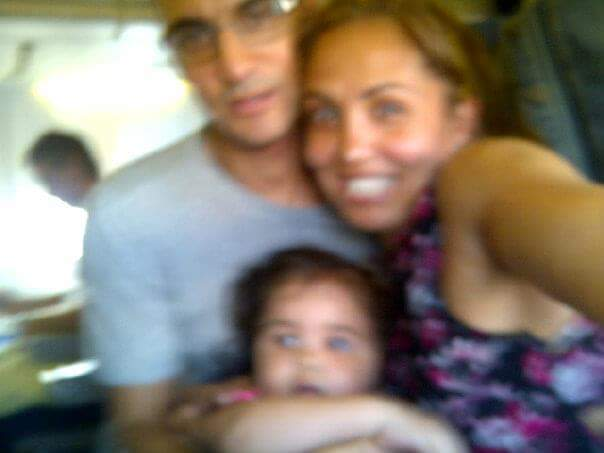 Family onboard:A child in perpetual motion, means blurry family selfies are an accepted given.