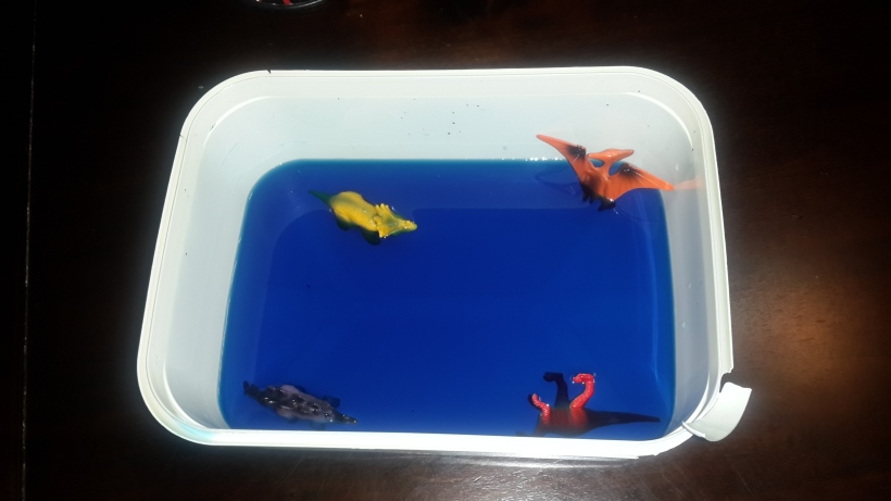 Dino Pool Party: Even Dino's like to have fun every now and then. (Step One of the Ice Age activity)