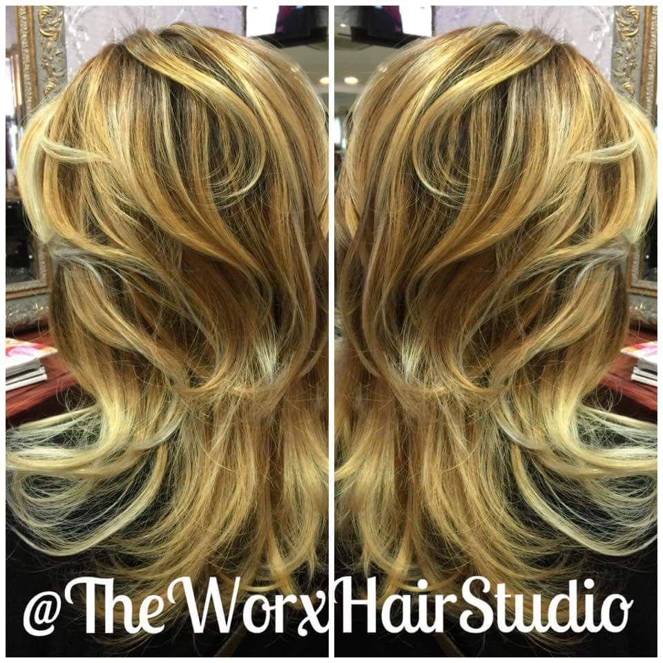 Blonde second time: A little warmer this time round to make regrowth look more organic