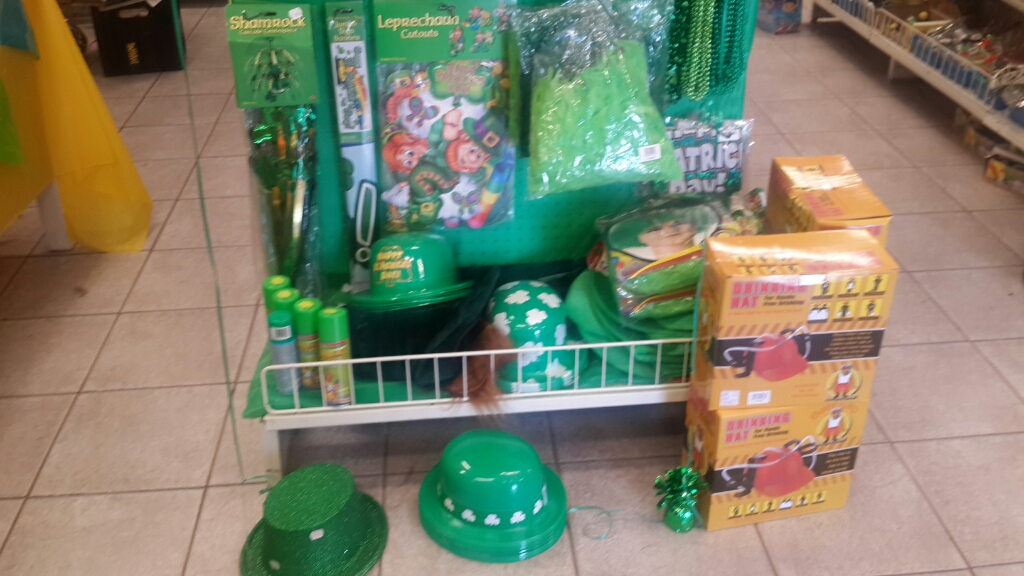 Do you think it's on purpose that they left the drinking gadgets right by the Irish-esque goodies? :)