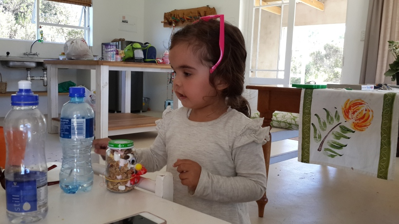 Flashback:Little Morgy about to enjoy her Easter Bunny Crunch at our Doo Little Farm Getaway