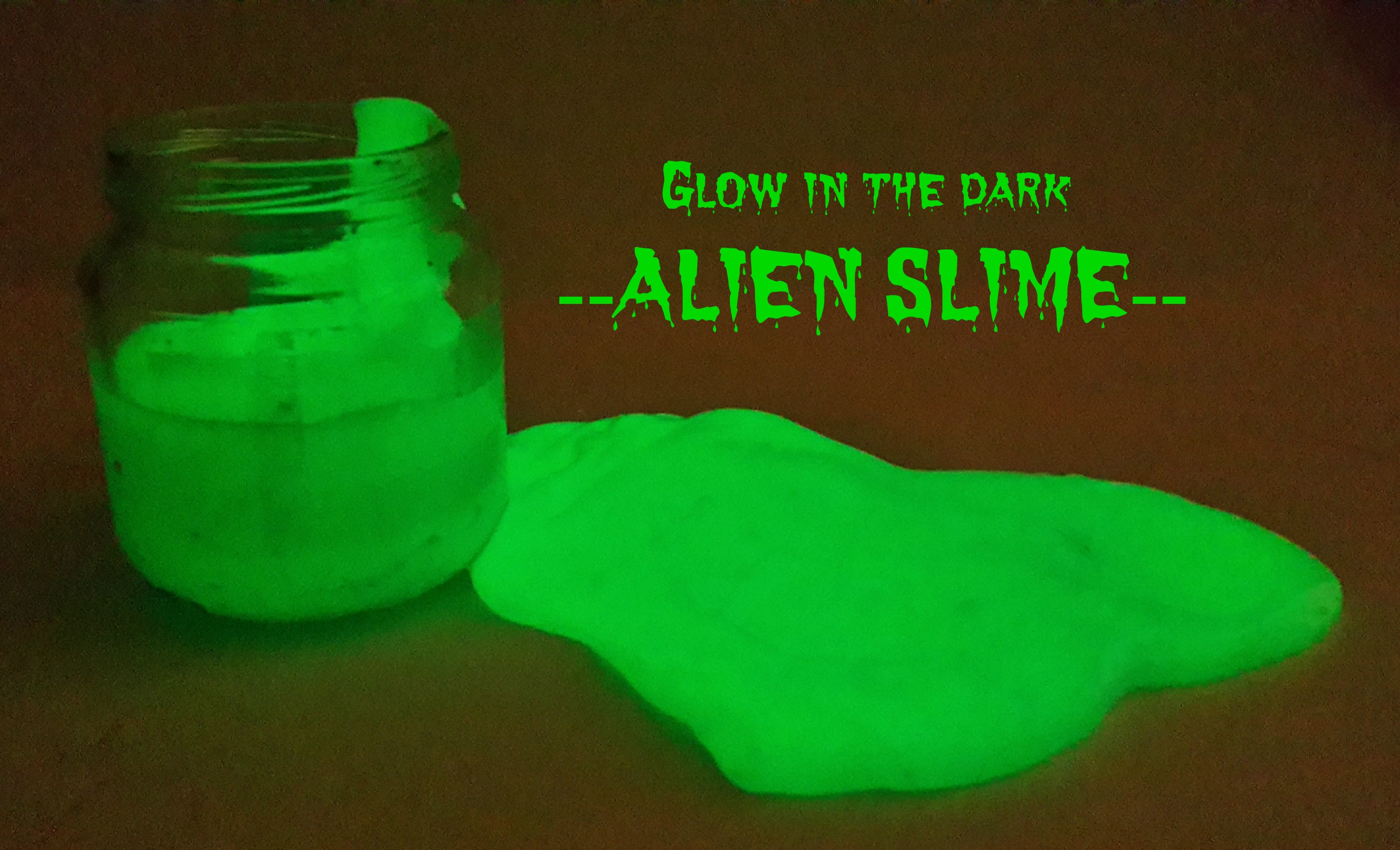 How to make glow in the dark slime instructions the milk memoirs how to make alien slime ccuart Images