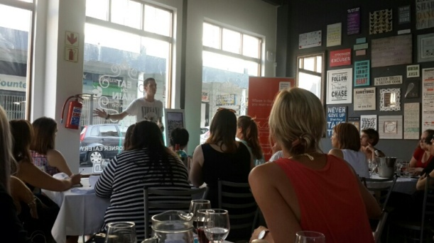 Ruan from Gevaaalik.com held a captive audience.