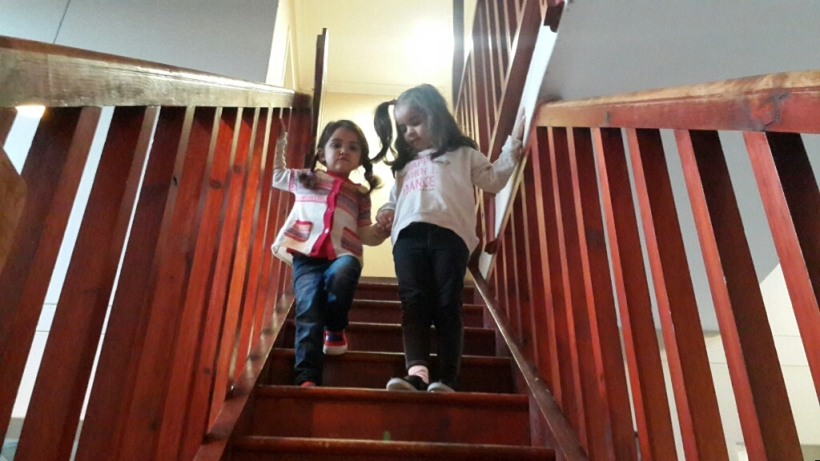"""Big sister was so incredibly loving and supportive - """"Here, Parky, hold my hand, I'll help you."""""""